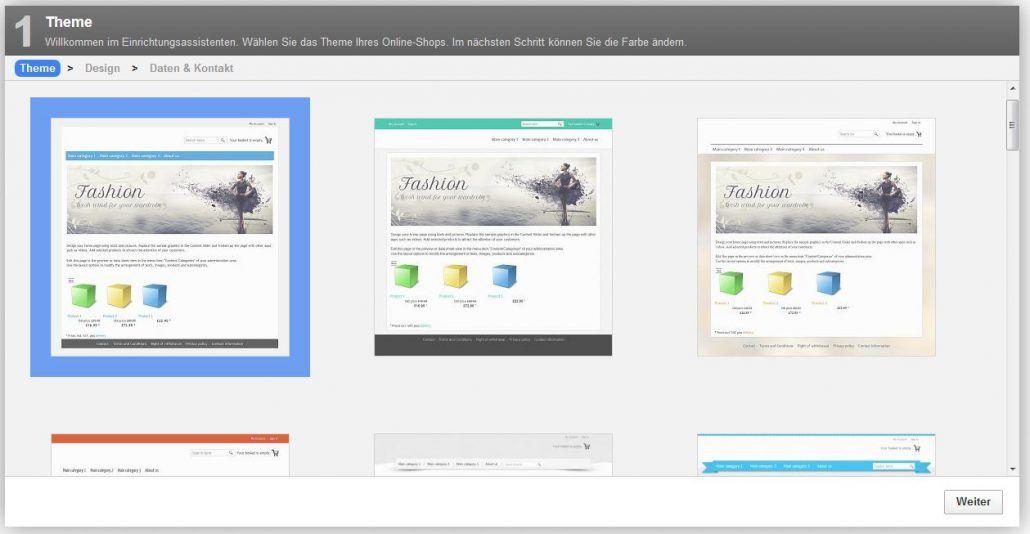Der Einrichtungsassistent für Ihren ePages-Shop