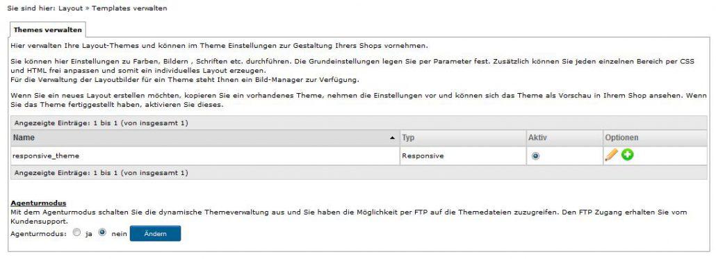 APT Shop Testbericht: Templates verwalten