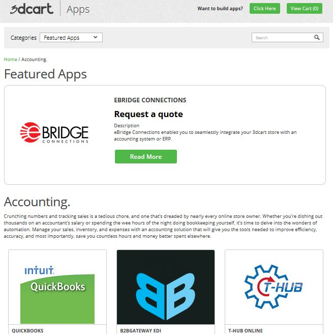 3dCart Testbericht: App Store