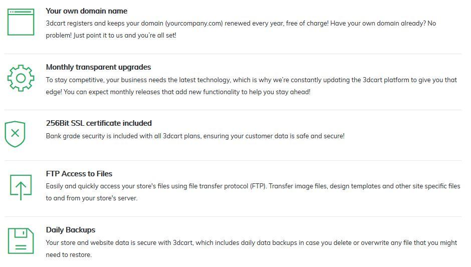 3dCart Testbericht: Hosting